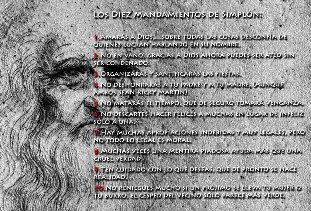 Los diez mandamientos de Simplón